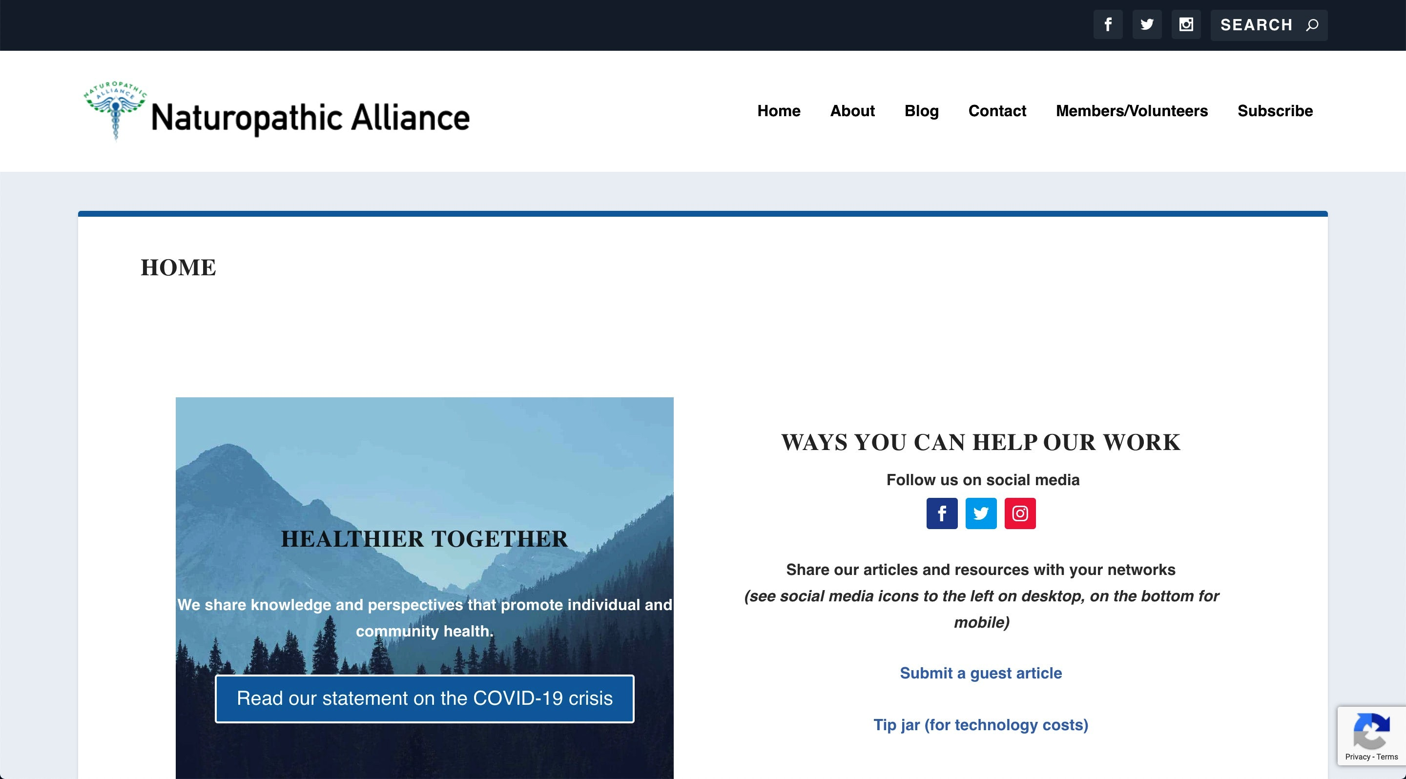 Naturopathic Alliance site